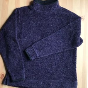 Vintage LL Bean Purple turtle neck Fleece Pullover